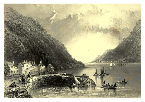 002-Muelle de Rostrevor-The scenery and antiquities of Ireland -Vol I-1842-W. H. Bartlett
