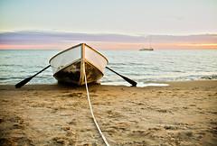 Tied Up (FarFlungTravels) Tags: portstanley ontario canada lakeerie lake boat sail oar sand water greatlakes lute homedecor