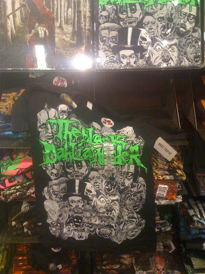 2011/02/26 Black Dahlia Murder Shirt I Drew at Hot Topic No.01