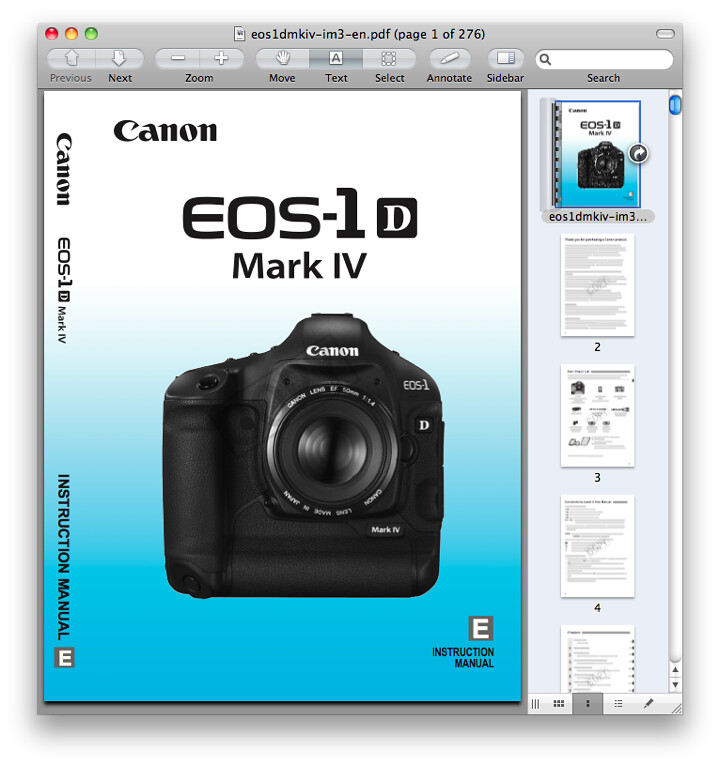 Canon 1D Mark IV Manual