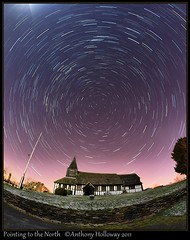 Pointing to the North (Ant_H.) Tags: church radio sony astronomy nightsky marton startrails polestar a700 flickraward flickraward5 flickrawardgallery