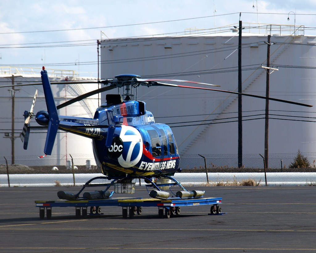 ABC TV Eyewitness News Traffic Helicopter Linden Airport New Jersey Jag9889