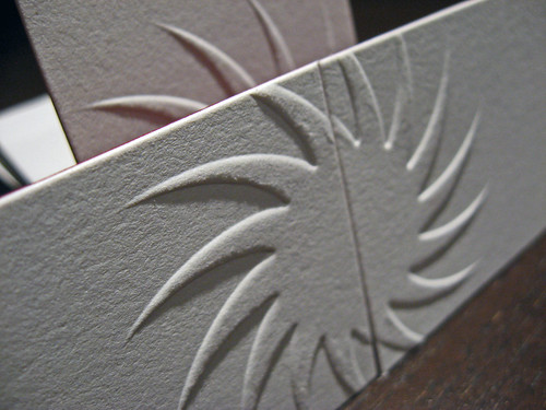 Embossed/Letterpress Business Card