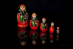 matryoshka dolls 10/52 (sure2talk) Tags: reflection dolls russiandolls 1052 matryoshkadolls nikond60 flickrduel nikkor50mmf14gafs fiftiethbirthdaypresent 111picturesin201177childrenstoy 52weeksfornotdogs wtfnd iwaitedalongtimeforthese