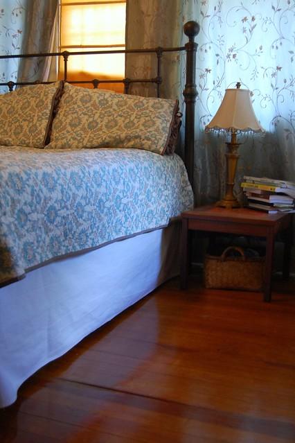 mended bedskirt