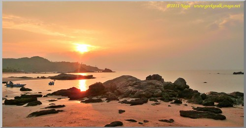 Sunrise at Om beach, Gokarna