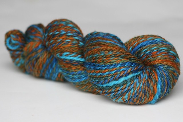 **PLAY** Mosaic Moon 'Jacob's Ladder' on BFL Handspun