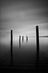 'Dream-Scene B&W' - Rhos-On-Sea Jetty (Kristofer Williams) Tags: longexposure sea seascape water landscape jetty sony poles tamron rhosonsea dreamscene nd110 1024mm a550