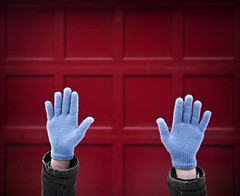 203/365 Hands up (Ian Fidino!) Tags: red house ian fire hands gloves fidino
