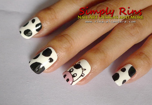 Nail Art Cow 02