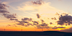 sunset on a winter day (Pedalrocker) Tags: sunset panorama nature colors clouds contrast canon germany landscape bavaria natur catchy würzburg