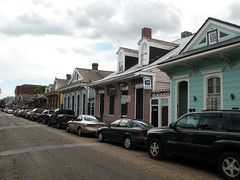 Houses on St Anne Street, New Orleans (dsjeffries) Tags: houses homes urban house architecture louisiana neworleans frenchquarter fancy nola lacy 1030 frilly dense colorfulhouses stannstreet fancytrim quartierfrancais 1022stannstreet 1030stannstreet