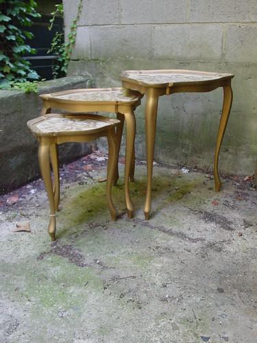 Gilt Italian Nesting Tables, set