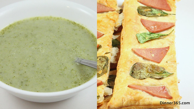 Day 75 - Broccoli Soup and Chicken Spinach Puff Pastry