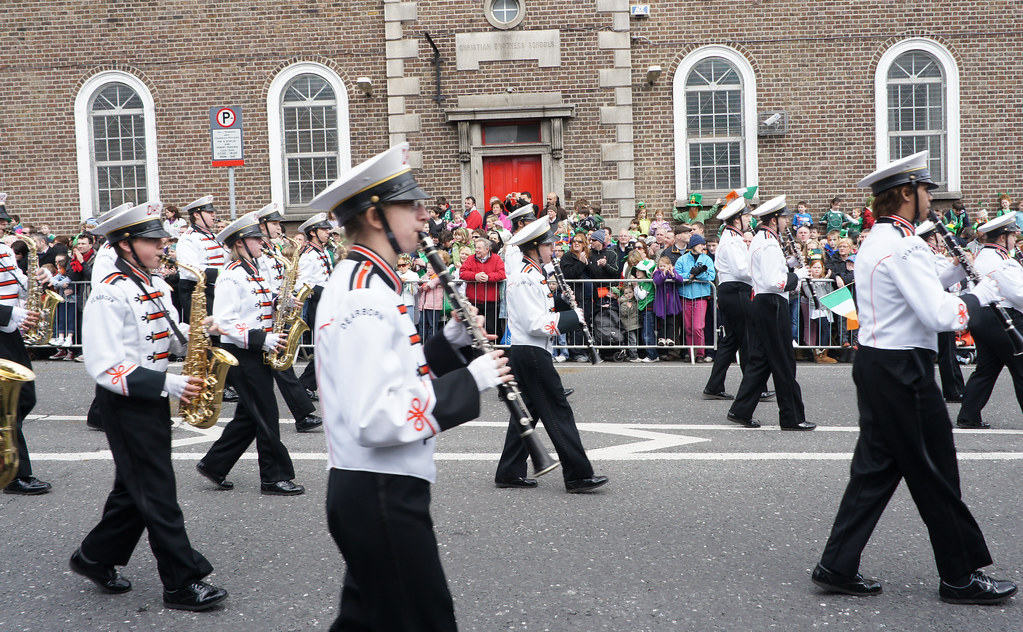St. Patrick's Day Parade In Dublin - Dearborn High School Marching Band