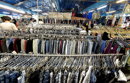 Clothes at the weekend market