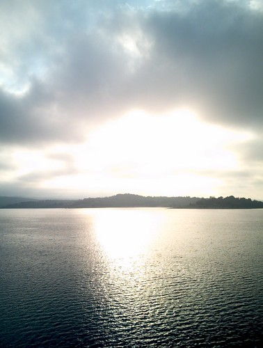 Early morning sun over Cardinia Reservoir