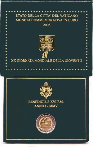 Oficiálne bal. 2 Euro Vatikán 2005, Svetové dni mládeže