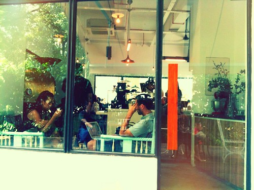 a pretty little coffee shop at the kallang riverside park