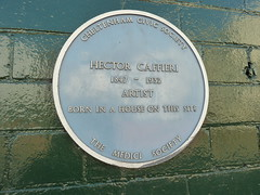 Photo of Hector Caffieri blue plaque