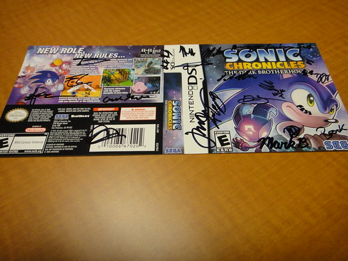 Sonic Chronicles Package Insert