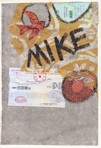 Mike's Moleskine collage collab