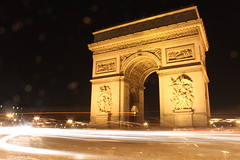 L'Arc de Triomphe #1 (batmanday97) Tags: city longexposure orange brown black paris france night canon french rebel lights stream arch napoleon headlight sparks arcdetriomphe yello archoftriumph streamline shutterspeed larcdetriomphe arcdutriomphe arcoftriumph larcdutriomphe t1i canonrebelt1i