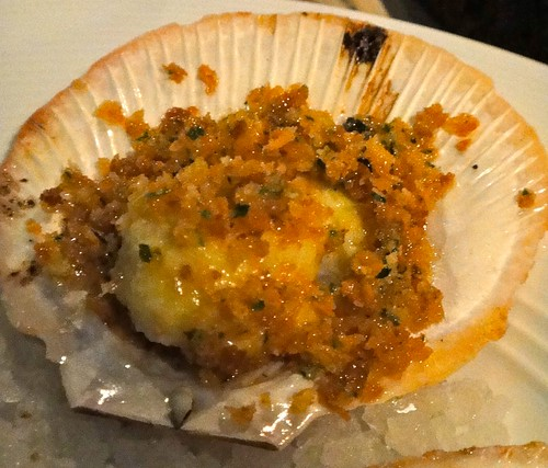 1/2 SHELL SCALLOPS GARLIC AIOLI HERB BREADCRUMBSHare and Grace, Melbourne CBD