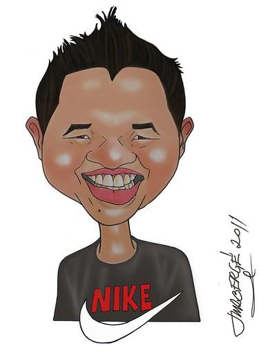 My caricature by José Manuel Rodriguez Berge