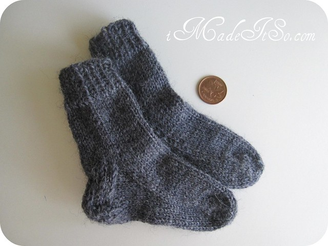finished socks knit 2 at a time on circular needles