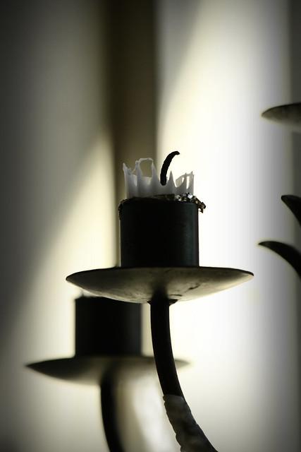 ljus, stearinljus, utbrunna, kaffehuset august, vasa
