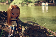 Picles (Bruna Lacrout ) Tags: picles blythe doll takaratomy sbl primadolly ginger blytheviajante brunette caramelo portoalegre redeno parque custom musse anamonteiro blythecombr sonya230 natureza bokeh