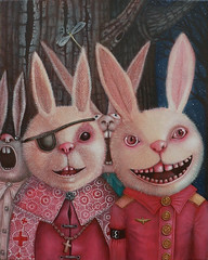 Surreal art by Peca (JamesGoblin) Tags: mystery wood tree night rabbit wallpapers wallpaper posters poster illustrations illustrate illustration mysticism symbolic symbol mystical spiritual art surrealism surreal artwork paint painting rabbits