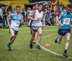 On the run (FotoFling Scotland) Tags: cuparhighlandgames athletes track