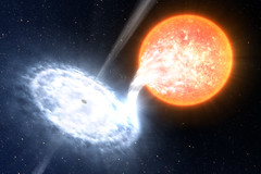 Artist impression of a black hole binary system