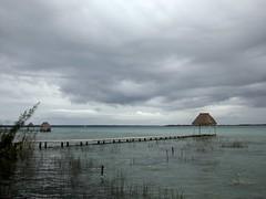Laguna bacalar (NeKoMaTa K) Tags: sky art water clouds muelle madera agua eau tag lagoon dia paisagem ciel cielo nubes nublado laguna paysage landschaft paesaggio bacalar lacune