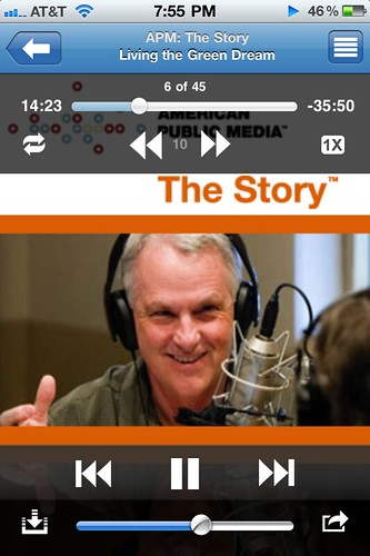 "Listening to ""The Story"" podcast on Podcaster"