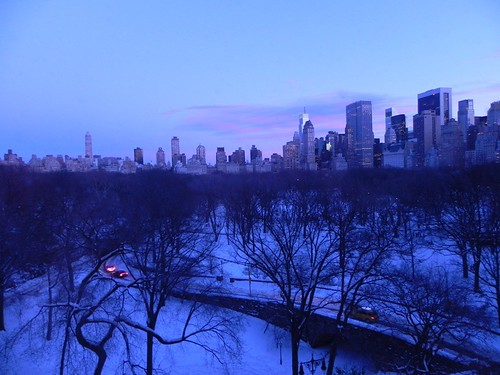 Sunset over Central Park, 12-27-2010