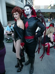 Black Queen and Mister Sinister (BelleChere) Tags: costume comic geek cosplay cartoon marvel dragoncon 2010 blackqueen mistersinister