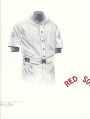 Boston Red Sox 1918 uniform artwork (Scott Sillcox) Tags: heritage history vintage uniform baseball bostonredsox throwback 1918 mlb bostonamericans