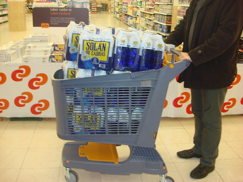 All plastic cart.