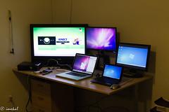 My Desk (imxkal) Tags: california apple 35mm nikon slim sigma xbox 360 microsoft pro 1855mm nikkor f18 dslr f28 vr lenovo vibration 70200mm netbook reduction dcr250 raynox 1755mm 55200mm 18g macbook macbookpro vibrationreduction    s103   d7000 d3100