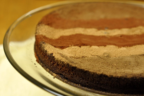 Michel Rostang's Double Chocolate Mousse Cake