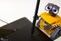 Wall-E using my Wacomb Bamboo Pen Tablet..