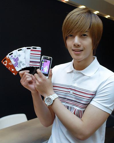 Kim Hyun Joong's Samsung Anycall Haptic Pop Photos