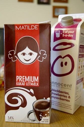 Matilde chocolate milk + smoothie