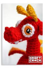Ojos de Lana Seguros / Wool Safety Eyes (★kraftcroch★) Tags: red baby color lana wool toy diy rojo soft pattern dragon handmade crochet craft dragons bebé amigurumi patron juguete artesania croche ganchillo