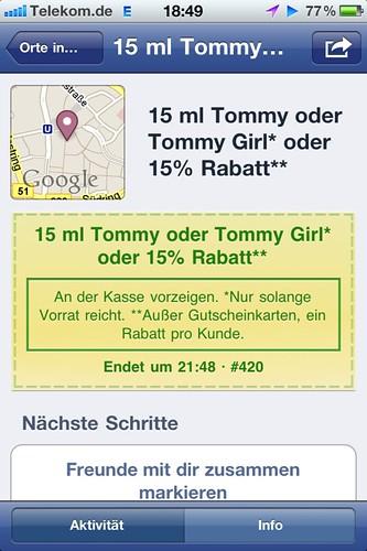 Facebook-Angebote: Tommy/Tommy Girl/15 % Rabatt bei Douglas in Bochum