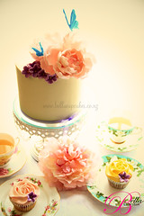 Peony Tea Party (Bella Cupcakes (Vanessa Iti)) Tags: wedding cupcakes tea weddingcake peony teaparty peonies roseswirl bellacupcakes