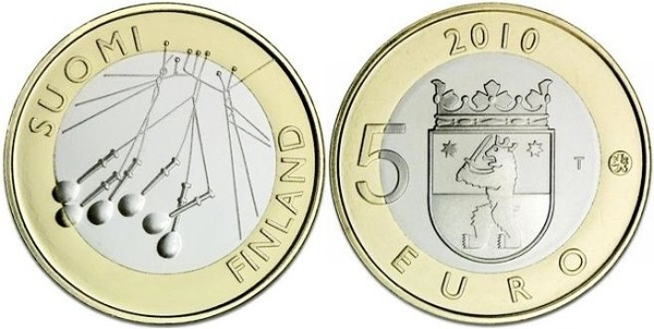 5 Euro Fínsko 2010, provincia Satakunta